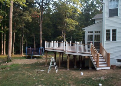 bonner deck side railing finished